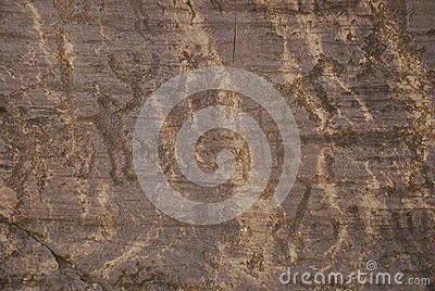 Prehistoric rock carvings