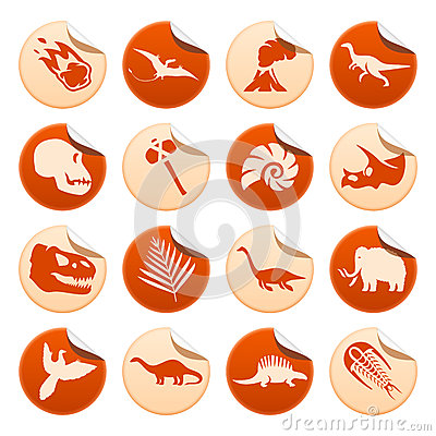 Prehistoric stickers