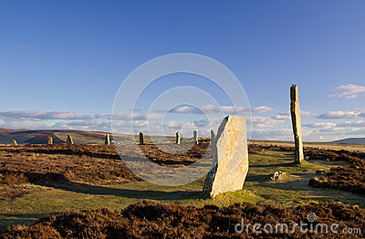 Prehistoric stone circle and henge