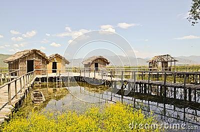 Prehistorical settlement Editorial Stock Image