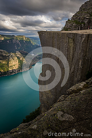 Free Preiekestolen - The Pulpit Rock, Norwegian Cliff Tourist Destination At Lysefjorden, Stavanger, Norway Stock Images - 91294914