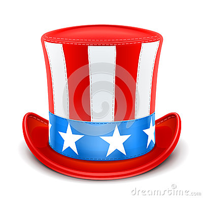 Premier chapeau des Etats-Unis pour le Jour de la Déclaration d Indépendance