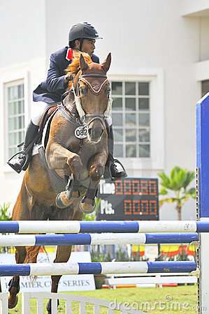 Premier Cup Equestrian Show Jumping Editorial Stock Photo