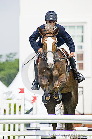 Premier Cup Equestrian Show Jumping Editorial Stock Image