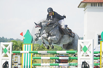 Premier Cup Show Jumping Equestrian Editorial Photography