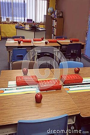 Premier jour de nouveau à la classe