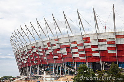 Premiere presentation of national stadium Editorial Stock Image