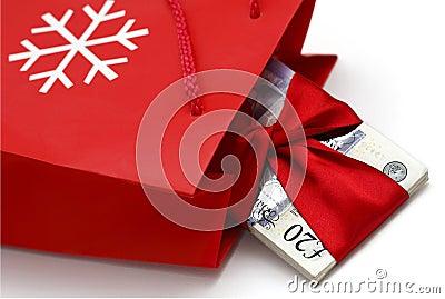 Premio del efectivo de la Navidad