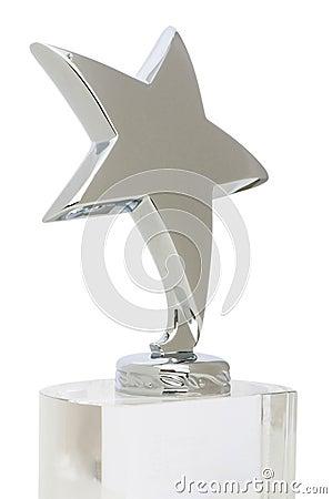 Premio della stella isolato sul bianco