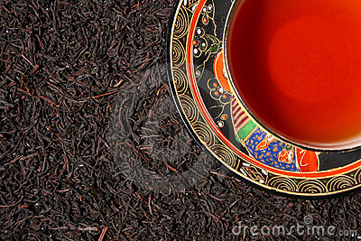 Premium black tea leaves