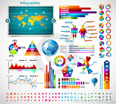 Free Premium Infographics Master Collection: Royalty Free Stock Photos - 22025078