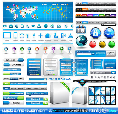 Free Premium Infographics Web Stuff Royalty Free Stock Photography - 22857437