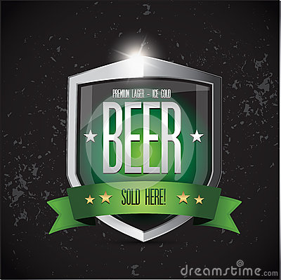 Premium lager - Ice cold Beer shield