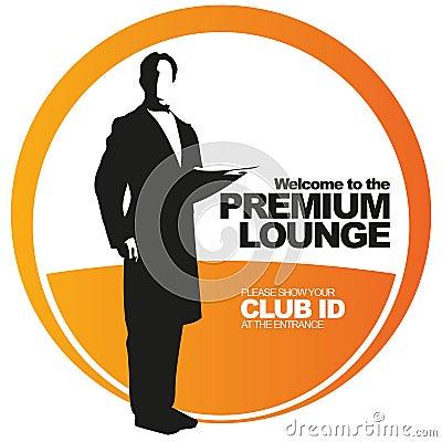 Premium lounge vector label