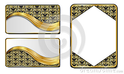 Premium Luxury cards,Retro Backgrounds Vector Illustration