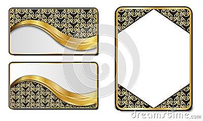 Premium Luxury cards,Retro Backgrounds Vector Illustration