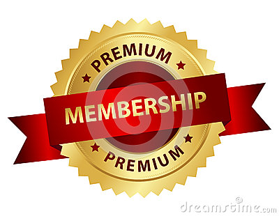 Premium membership badge / stamp