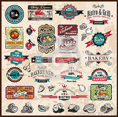 Premium quality collection of Vintage labels