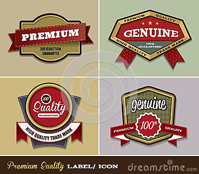 Premium Quality Label/ Icon