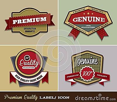 Premium Quality Label/ Icon