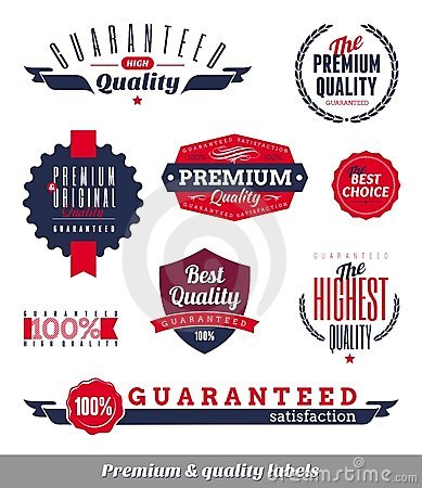 Premium & quality labels and emblems