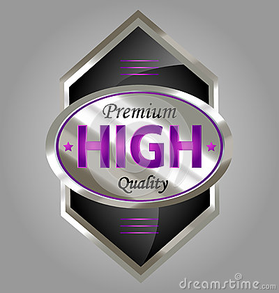 Premium quality product label