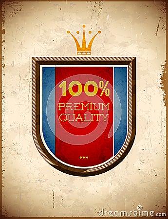 Premium quality shield label
