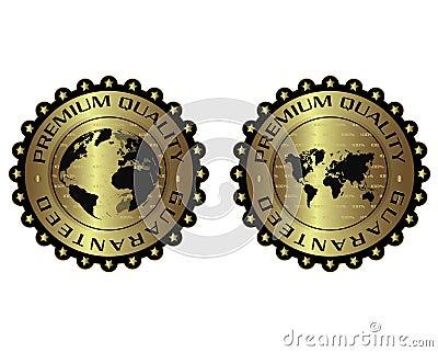 Premium quality unique luxury golden label