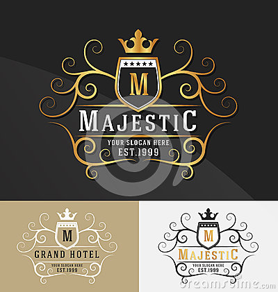 Free Premium Royal Crest Logo Design. Stock Image - 63373651