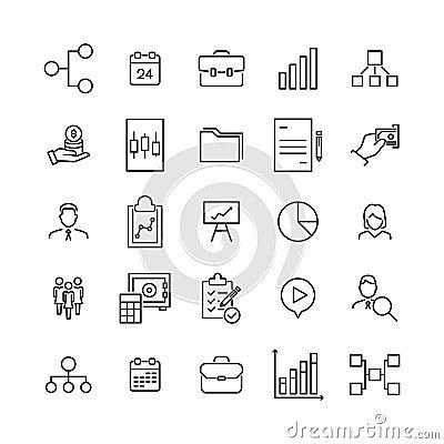 Free Premium Set Of Business Line Icons. Stock Photos - 114591483