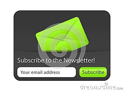 Prenumerera till informationsbladwebsiteelementet