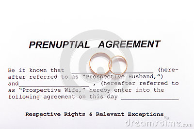 Prenuptial Agreement Form And Two Wedding Rings Photo – Prenuptial Agreement Form
