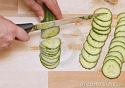 Prepairing salad