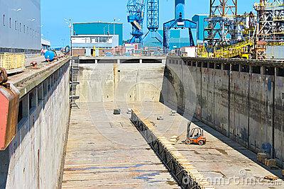 Preparation of dry dock