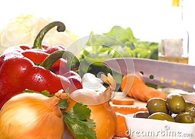 Preparation of fresh vegetables