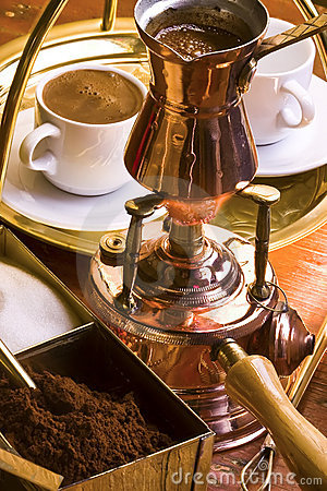 Free Preparation Of Turkish Coffee. Stock Images - 7944454