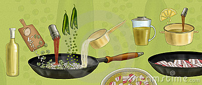 Preparation of pea soup