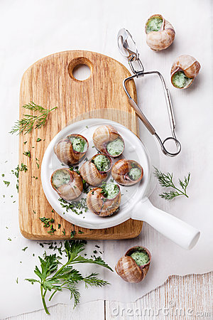 Preparation of snails