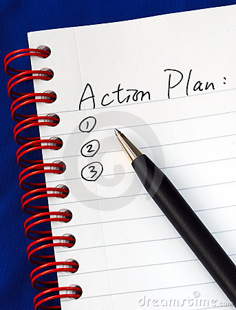 Free Prepare The Action Plan In A Writing Pad Royalty Free Stock Photos - 14661498