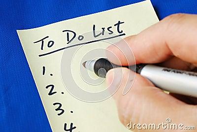 Prepare the To Do List