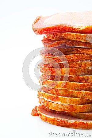 Prepared pig meat