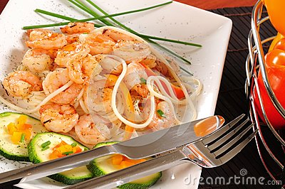 Prepared shrimp.