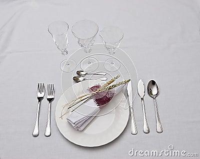 Prepared table.