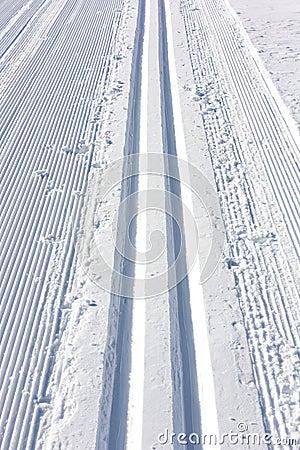 Winter ski track