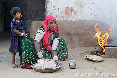 Preparing chapati 3 Editorial Image