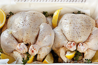 Preparing Chickens for Roasting