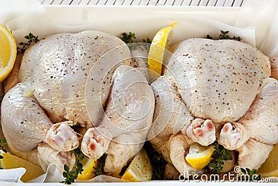 Preparing Chickens for Roasting
