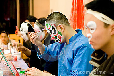 Preparing before Chinese Opera Editorial Photo