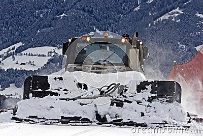 Preparing ski slope