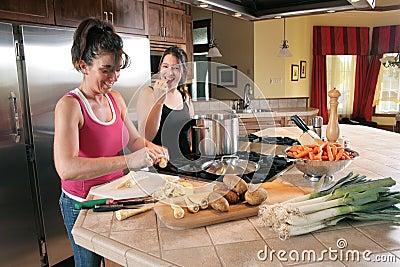 Preparing a soup